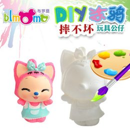 Wholesale Doll For Paint - Wholesale-Unbreakable Baby Doll Toys for Painting with Ecofriendly Painting and Paintbrush DIY Drawing Stencils for Painting