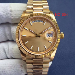 Wholesale Mens Watc - 2017 Luxury watch 18 ct gold DAYDATE 41 self-winding Automatic movement Silver dial Fluted bezel Concealed folding Crown clasp Mens watc