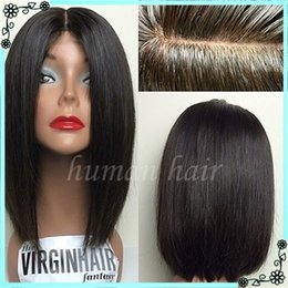 Wholesale Long Black Bob Wig - 8A Grade Short Bob Lace Front Wig Brazilian Full Lace Wig for Black Women Glueless Human Hair Wig With Baby Hair