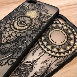 Wholesale Blue Floral Iphone Cases - 2017 Court Retro Floral Phone Case For Apple iPhone 8 7 6 6s Plus Lace Flower Hard PC+TPU Cases Back Cover Capa For iPhone7Plus