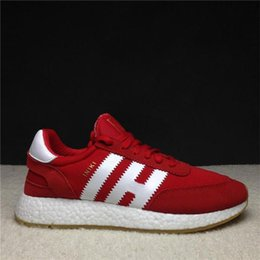 Wholesale Real Tan - Discount On Sale Iniki Runner Boost Running Shoes Real Top Quality Boost Original Iniki Runner Men Womens Sneaker Shoes