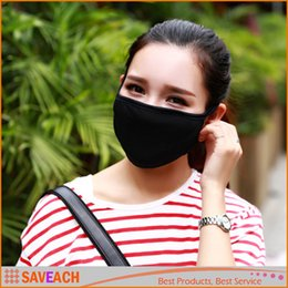 Wholesale Anti Dust Cotton Face Mask - Anti-Dust Cotton Mouth Face Mask Unisex Man Woman Cycling Wearing Black Fashion High quality free shipping