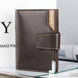 Wholesale Vertical Leather Wallet - Fashion New Quality Soft Leather Men Wallets Vertical Section Leisure 3 Folds Hasp Multi Credit Card Holder Wallet Free Shipping