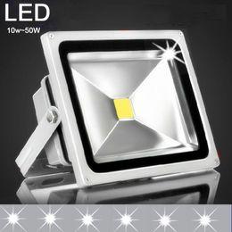 Wholesale Led Projector Reflector - AC 85~265V ip65 LED reflector Flood light 10W 20W 30W 50W lamp luminaria projector LED Floodlight exterior spotlight outdoor RGB