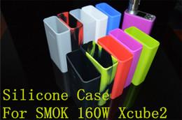 Argentina Estuche de silicona Smoke Xcube II Funda protectora de la caja Cubre la piel del cigarrillo electrónico Xcube 2 XCube II 160W TC Mod Suministro