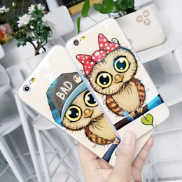 2019 casi di gufo Per Iphone X Custodie per telefoni Cartoon Owl Blu-Ray Soft Shell Nuovo TPU Custodia per cellulare riflettente per Iphone 6 7 8 Plus sconti casi di gufo