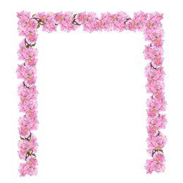 "Wholesale Home Decor Silk Flower Arrangements - 70"" Artificial Silk Cherry Blossom Flower Hanging Vine Garland Each 105 Flower Spray Arrangements for Wedding Wreath Home Garden Party Decor"