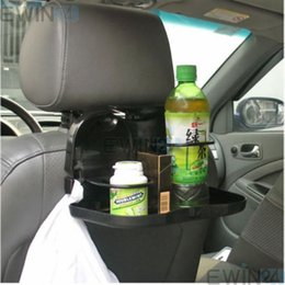 Wholesale Car Seat Drink Holder - Hot Selling! Foldable Car Back Seat Table Tray Stand Food Cup Drink Bottle Rack Holder 2pcs