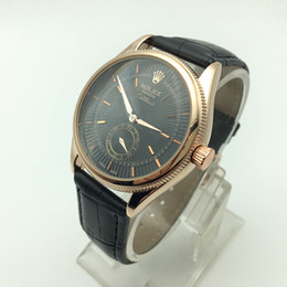Wholesale Dressing Fashions - Small Dial Work Men's Replica Watches Swiss Luxury Brand Watch For Man 3ATM Waterproof Leather Casual Watches Man Fashion Dress Wristwatch