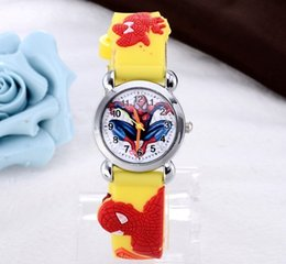Deutschland Heißer Verkauf 3D Cartoon Candy Uhr Schöne Kinder Mädchen Jungen Kinder Studenten Quarz Armbanduhr Spiderman Batman Car Princess Uhren cheap spiderman quartz watch Versorgung