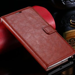 Wholesale Top Quality Note Cases - Edge Top Quality Leather Flip Case For Samsung Galaxy Note Edge N9150 Wallet Stand With Card Holder Phone Bags Sleeve Cover