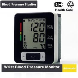 Wholesale Monitoring Pressure Gauge - Automatic Digital LCD Wrist Blood Pressure Gauge and Pulse Monitor Sphygmomanometer Portable Blood Pressure Monitor Wholsale