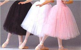 tutu de ballet adulto por atacado Desconto Novo em estoque atacado adulto saia de ballet / saias TUTU anágua rosa preto branco Organza anáguas