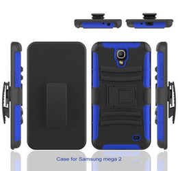 Wholesale Note Duty - Heavy Duty Defender Holster Hybrid Kickstand Case For Samsung Galaxy Note Edge Mega2 5.8 6.3 Cover SKin Belt Clip Shockproof