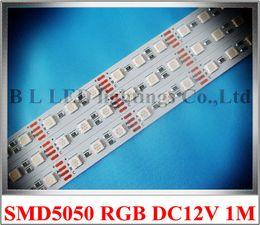 Wholesale Dc 1mm - RGB LED rigid strip light LED light bar LED cabinet light 1000mm*12mm*1mm 60 led SMD 5050 DC12V 14W RGB CE ROHS