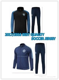 Wholesale Polyester Uniform Pants - 2017 2018 BEST QUALITY NYCFC Boca Jacket Tracksuit jerseys 17 18 Juniors top and Long pant Training suit adult football tracksuit Uniforms