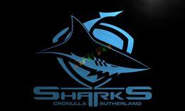 Wholesale Shark Night Lights - LD375- Sharks Cronulla Sutherland Neon Light Sign home decor crafts led sign