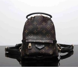 Wholesale Leather Backpack School - New Luxury brand women bag School Bags PU leather Fashion Famous designers backpack women travel bag backpacks
