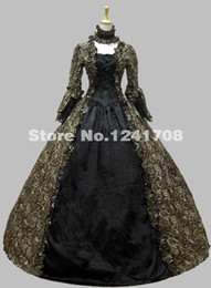 Wholesale Mardi Gras Prom Dresses - Colonial Georgian Gothic Victorian Period Dress Party Prom Gown Reenactment Theatre Stage Clothing