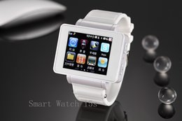 Wholesale Chinese Watch Mobile Android Phone - DHL 1.8'' Touch Screen GSM Smart Wrist Watch Mobile Phone Camera GPRS FM Cell Phone i5s Bluetooth Sync For Smart Android
