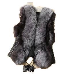Coletes de couro feminino on-line-Atacado e varejo outono e inverno colete mulheres jaqueta 2017 nova imitação de um casaco de pele colete de pele plus size feminino colete de pele jaqueta de couro
