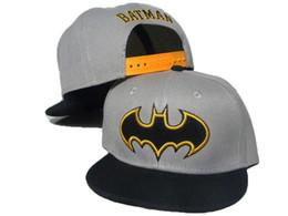 Wholesale Boys Batman Baseball Cap - Free Shipping Grey Black children batman snapback Cartoon Snapback Caps, Donald Duck child baseball cap, childrens hats,Cute batman hat DDMY