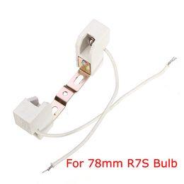 Wholesale Lamp Socket T5 - High Quality 78mm R7S Light Bulb Lamp Base Holder Adapter Socket Metal Handle order<$18no track