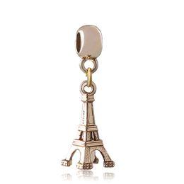 Canada La Tour Eiffel Dangle Alliage Charme Perle Plaqué Or Mode Femmes Bijoux Superbe Style Européen Pour DIY Bracelet Collier supplier gold eiffel tower charms Offre