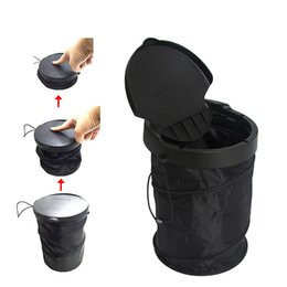 Wholesale Trash Can Bag Holder - Car Trash Bin Cans Folding Garbage Dust Holder Rubbish Cases Car Organizer Storage Bag Seat Waste Auto Interior Rubbish Barrel