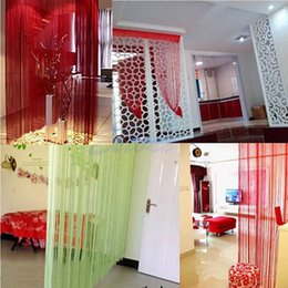 Wholesale Screen Divider Free Shipping - Free Shipping String Door Curtain Fly Screen Divider Window Room Decor DIY Blind Tassel Drape order<$18no track