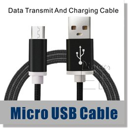 Wholesale Edging Male - Micro USB Cable Type C 3.1 Nylon Braided 5ft Cable High Speed USB 2.0 A Male to Micro B Aluminum Shell for Samsung S6 S7 edge Note 7 Cable