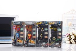 Wholesale headphones cartoons - Newest Cartoon Earphones Avengers Headphones Headset earphones 3.5mm for mp3mp4 player Mobilephones iPhone HTC Smasung,DHL FastFree Shipping