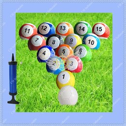 Wholesale Inflatable Ball Set Wholesale - 7 inch Inflatable Snook ball,16 pcs Snooker Ball with Pump,3# Inflatable Football Ball Snook Soccer Ball Snookball for you