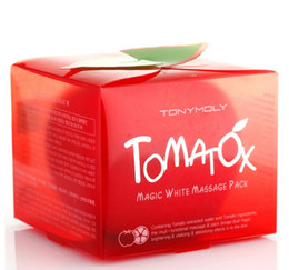Wholesale Magic Oils - Tonymoly Tomatox Magic Cream Tony Moly Organic Tomato Facial Mask Whitening Moisturizing Facial Mask 80g Tomato Tonymoly Skin Care Mask