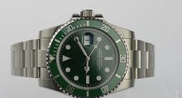 Wholesale Asia Watches - Luxury Watches Top Quality Asia 2813 Mechanical 40mm 116610LV CERAMIC GREEN DIAL  BEZEL NEW STYLE RANDOM SERIAL Automatic Fashion Brand Men'