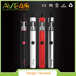 Wholesale Kangertech Evod Atomizer - 100% Original Kangertech Topevod Starter Kit with Kanger Tech 1.7ml Top Evod Toptank Atomizer 650mah Evod Battery Vocc Coil vs Subvod Ijust2
