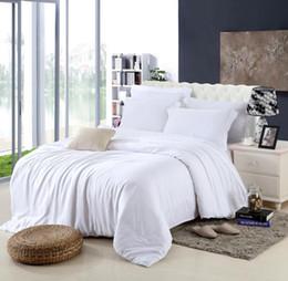 Wholesale western queen bedding - king size Luxury white bedding set queen duvet cover double bed quilt doona sheet linen bedsheet bedspreads bedroom tencel 4pcs western