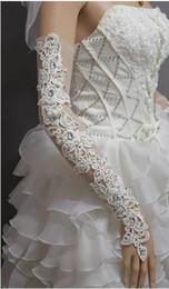 Wholesale cheap luxury wedding dresses - Long Bridal Gloves Rhinestone New Fashion Wedding Gloves Cheap Bridal Accessories Luxury Long Gloves For Evening Dress High Quality