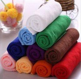 Wholesale Microfibre Bath Sheet - 10pcs 30*60CM Soft Microfiber Bath Sheet Beach Towel Microfibre Towels Absorbent Cloths Drying Cloth Shower Beach Towels