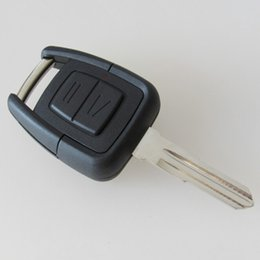 Wholesale Astra Blades - Remote key shell casr for Opel VAUXHALL Vectra Zafira Omega Astra 2 Button key cover with right blade 15pcs lot free shipping