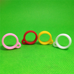 Wholesale Ego T Rings - ego lanyard Silicone Necklace Ring for eGo eGo-t eGo-c Twist Battery neck lanyard Multi Colors ring Silicon Material e cig lanyard ring