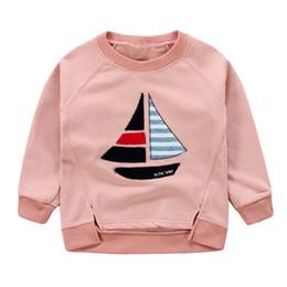 Wholesale Pink Sweatshirt For Girls - Children's Sweatshirts Boat Hoodie For Girls Hoodie For Boys Autumn Children's Clothing
