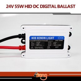 Wholesale Digital Slim Hid Ballast - 2pcs 24V DC 55W TOP Quality Good Quality HID xenon slim digital ballast hid ballast car ballast Replacement Parts