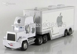 Wholesale Cars Mack Diecast - Wholesale-Free Shipping Pixar cars 2 Apple white Hauler Mack truck cars Diecast Metal Toys model