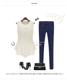 Wholesale Crochet Blouses For Women - 2016 New Lace Blouses For Women Crochet Summer Casual Floral Colorful Lace Shirt Tops Tees Sleeveless Hollow Out Blouses Summer Clothing