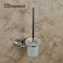 Cromo chapeamento de escova on-line-Furukawa wc higiênico casa de banho todo hardware pingente de cobre xícara de cerâmica xícara de bronze cromado pole banheiro escova de limpeza