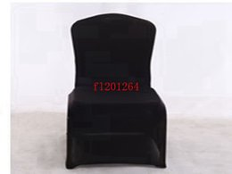 Wholesale Black Polyester Banquet Chair Covers - Free Shipping Black Spandex Chair Cover Wedding Chair Covers for Weddings Party Decorations Banquet Hotel ,100pcs lot