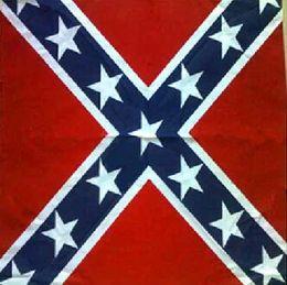 Wholesale Knitted Beachwear - Civial War Flag Print Bandanas Cotton Confederate Rebel Flag Headbands