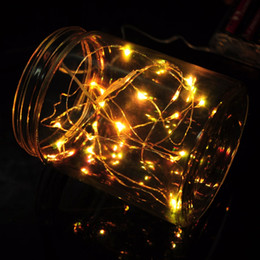 CR2032 Batteries Operated 2m 20leds Copper Wire Micro LED fairy string  Lights Christmas Xmas Party Wedding Decorations Light from