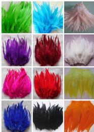 perline di vaso di vaso Sconti Alta Quanlity Mix 10 colori da casuale 200pcs Gallo Sella piume di estensione 8-10 pollici / 10-15 cm piume di cazzo per la decorazione
